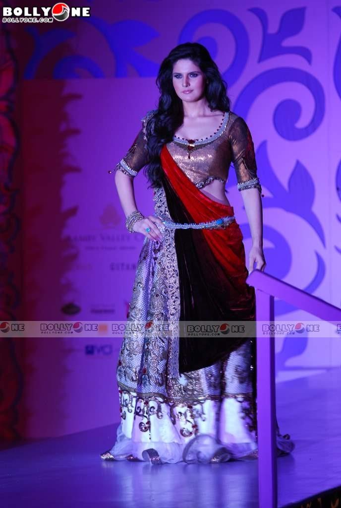 , Zarine Khan ,Geeta Basra Walk the Ramp at India Bridal Week