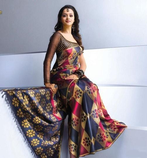 Bhavana Sexy Photoshoot in Saree