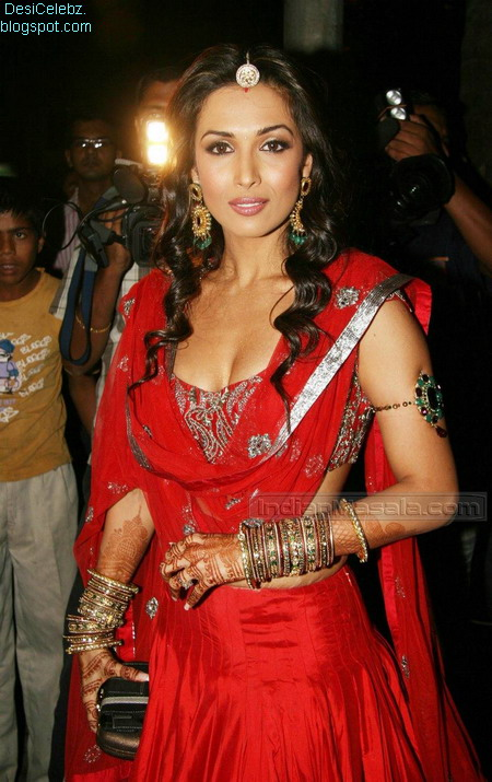 Malaika Arora Hot Pics in Red Ghagra Choli