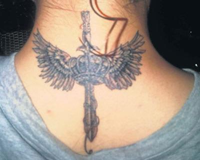 miami ink angel tattoo temporary tattoo printer