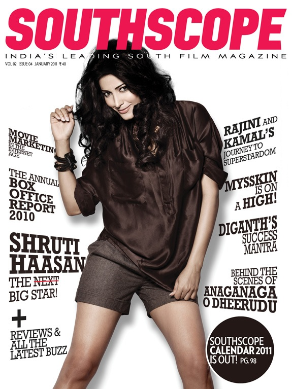 Shruti Haasan South Scope Cover Scan - Jan 2011