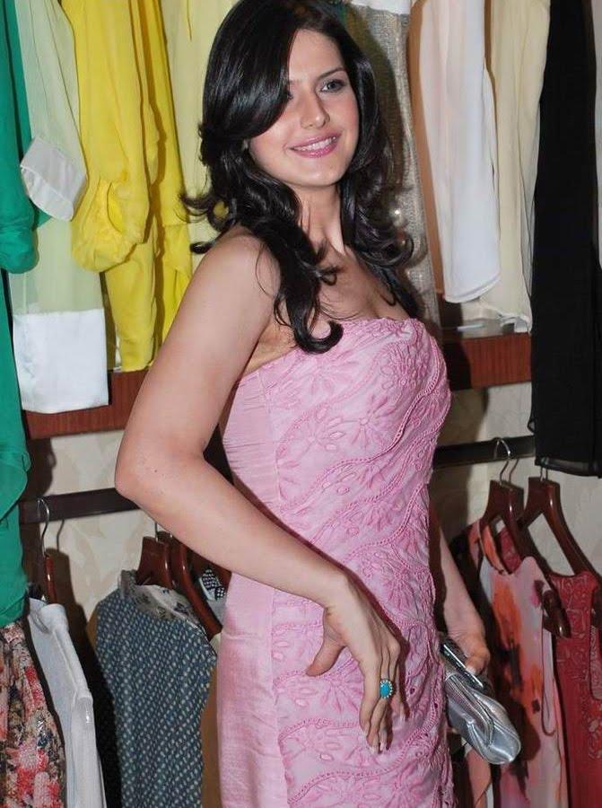 , Zarine Khan Sexy Pics in Pink Dress