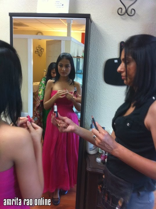  Amrita Rao Beauty Parlour Pics