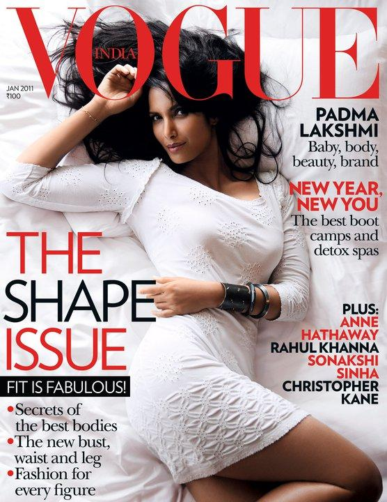 Padma Lakshmi Vogue Jan 2011 Cover