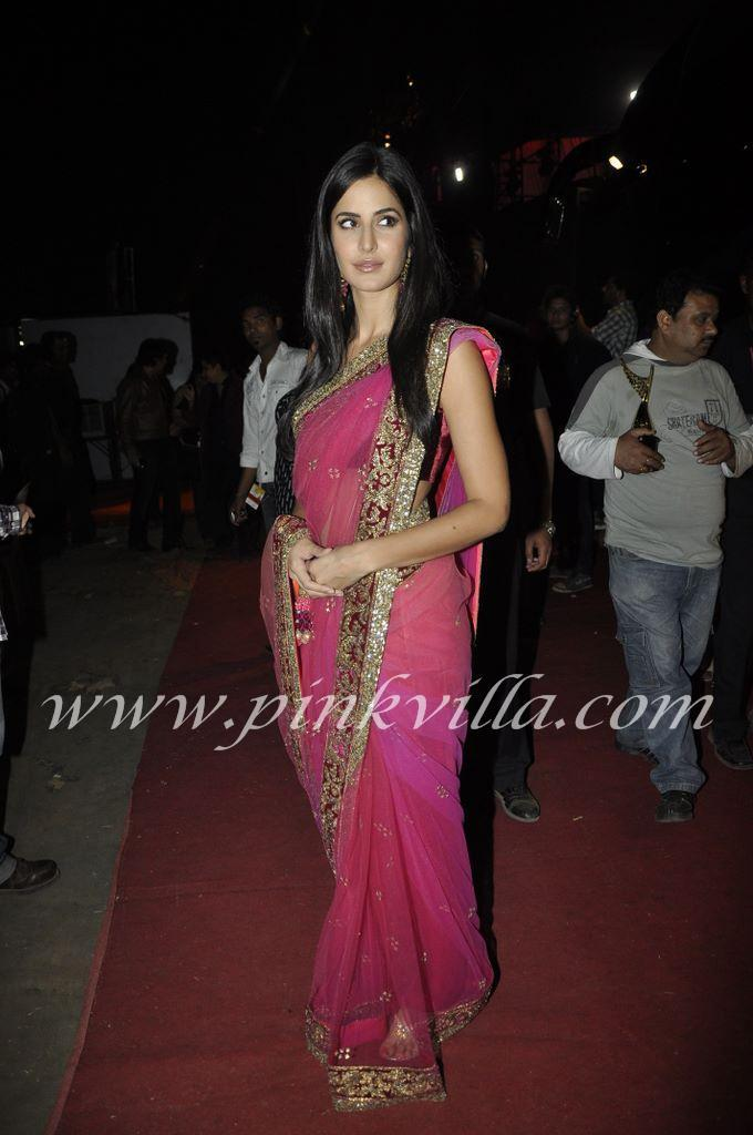  Katrina Kaif in Pink Saree at Apsara Awards 2011