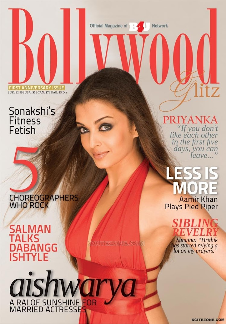 Red Hot Aishwarya Rai sizzle on Cover of Bollywood Glitz Magazine