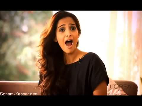 Sonam Kapoor Behind the Scenes from L'Oreal Ad