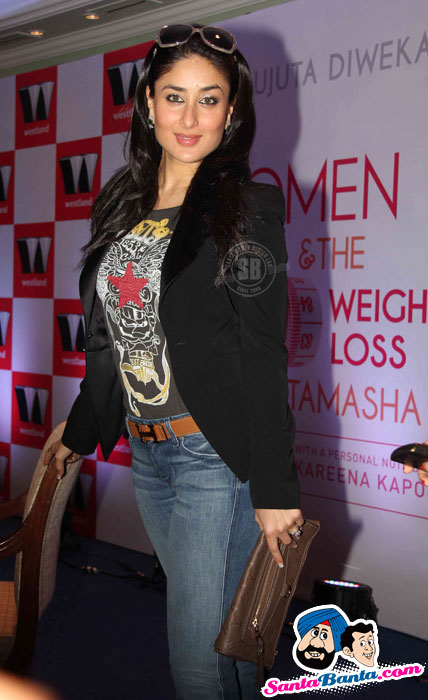 Hot Kareena Kapoor in Sexy Jeans at Women and The Wait Loss Tamasha Launch
