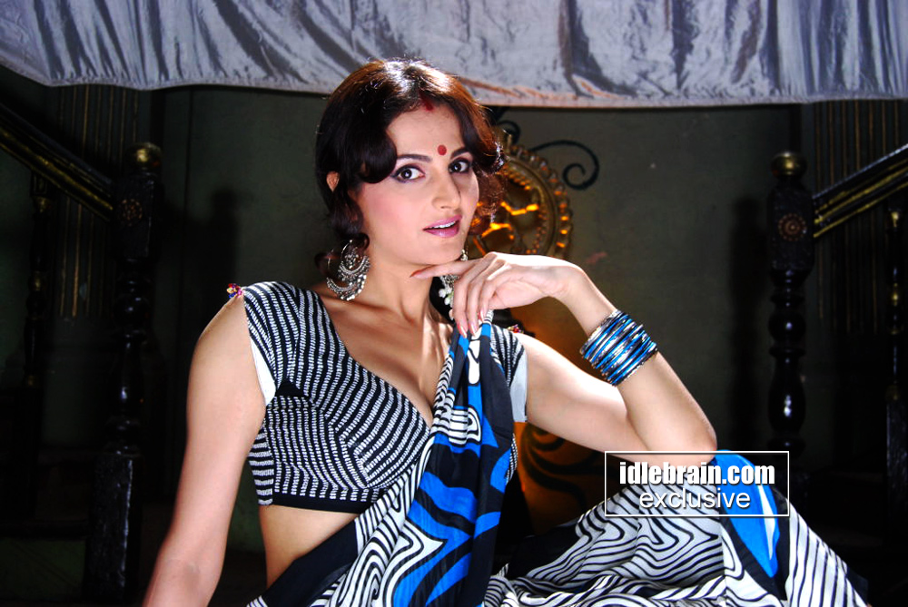  Monica Bedi in Sexy Blue Saree
