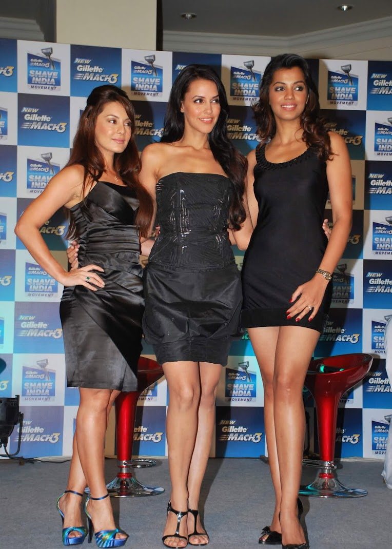 Hot Lanky Beauties Mugdha Godse,Neha Dhupia,Minnisha Lamba - HQ