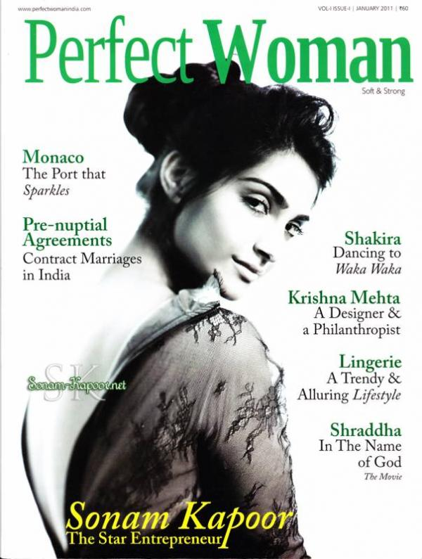 Sonam Kapoor - Sonam Kapoor Perfect Woman magazine Cover Scan