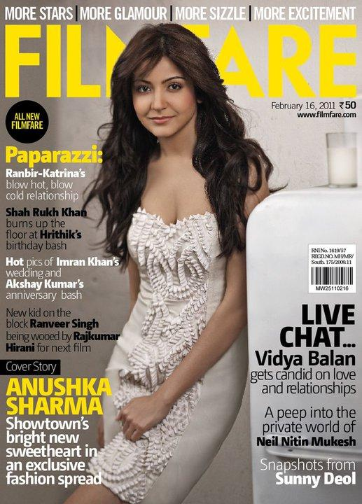 Anushka Sharma on Filmfare magazine February 2011