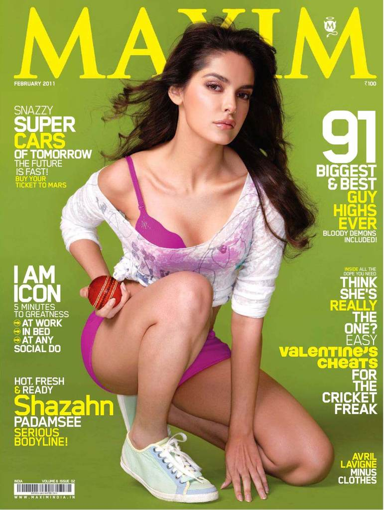 Hot Shazahn Padamsee Maxim Feb 2011 Bikini Scans