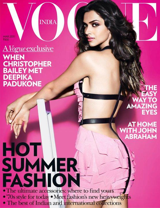 Pinky Deepika Padukone HOT Vogue Cover Scan March 2011