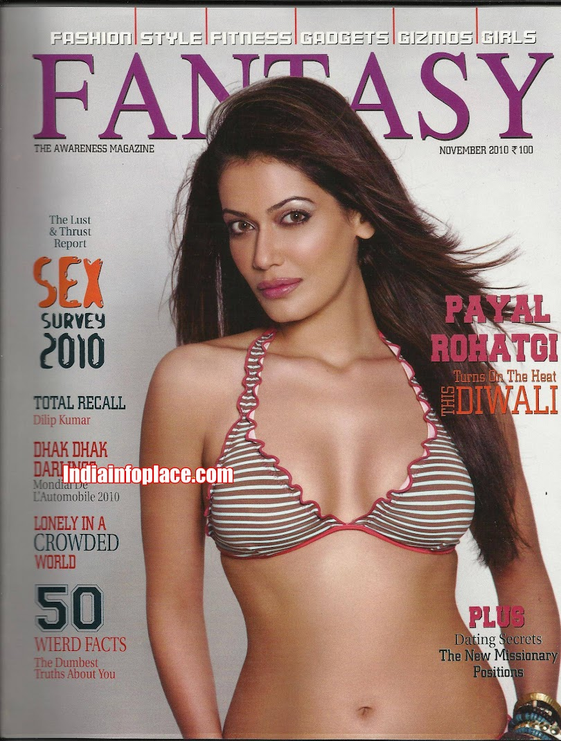 Payal Rohatgi Hot Bikini Scans Fantasy Magazine