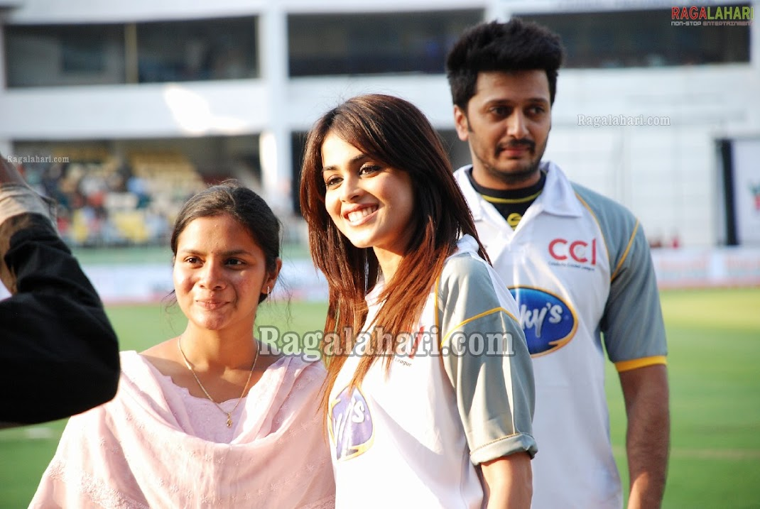 Genelia D'Souza At CCL Vizag Cricket Match