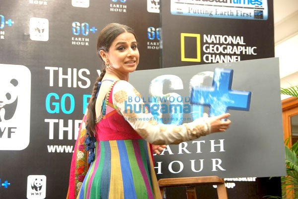 Vidya Balan at 'WWF World 60 Earth Hour' event