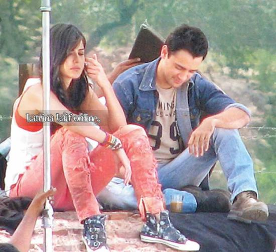 Katrina Kaif and Imraan Khan on the set of MBKD in Agra