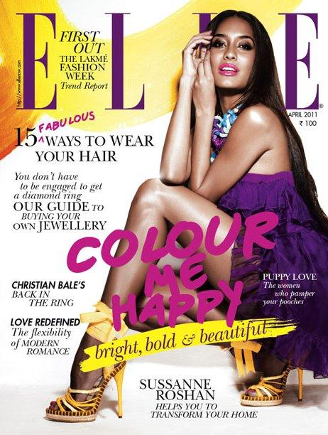 Lisa Haydon - Lisa Haydon on the cover of Elle Magazine April 2011