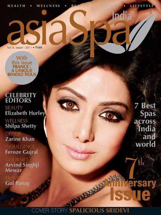 , Sridevi on Asia Spa Magazine Cover April 2011 Edition