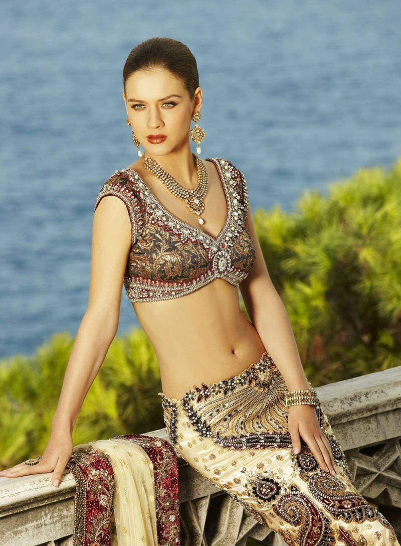 , Russian Model in Indian Sarees Latest Stills