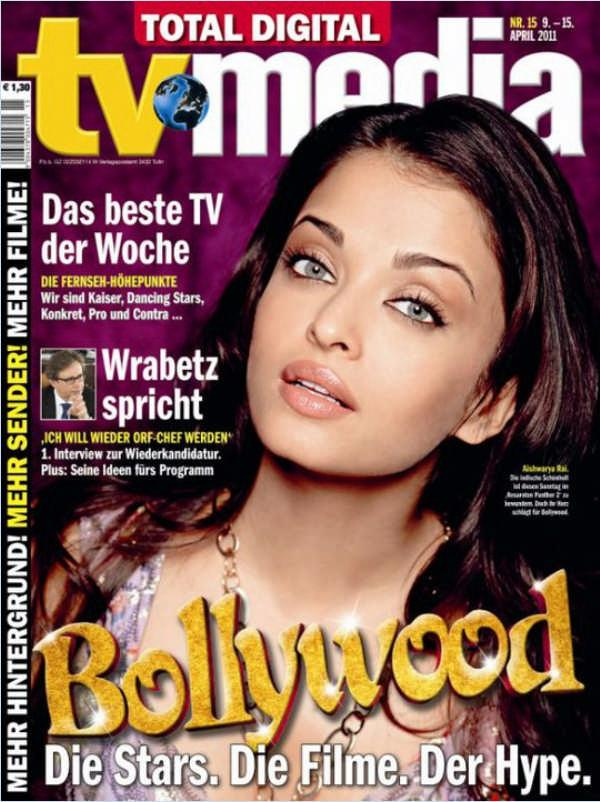 Aishwarya Rai  - Aishwarya Rai on Cover of German Entertainment Magazine April 2011