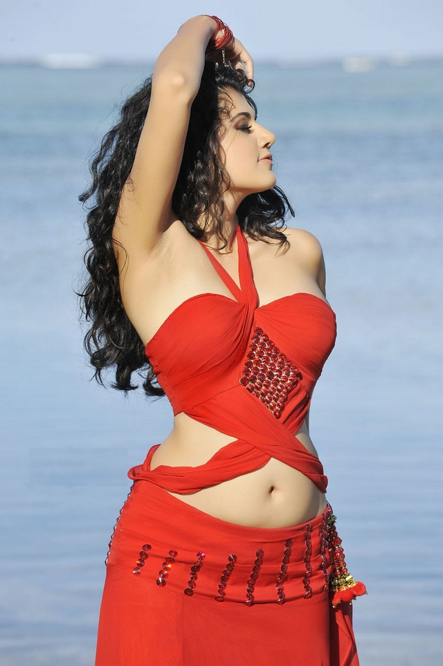  Tapsee Unseen Beach Stills From Mr.Perfect in Red Dress