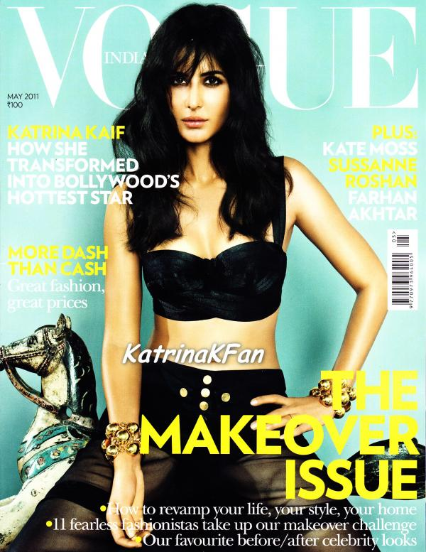 Katrina Kaif Bold Look on Vogue magazine May 2011