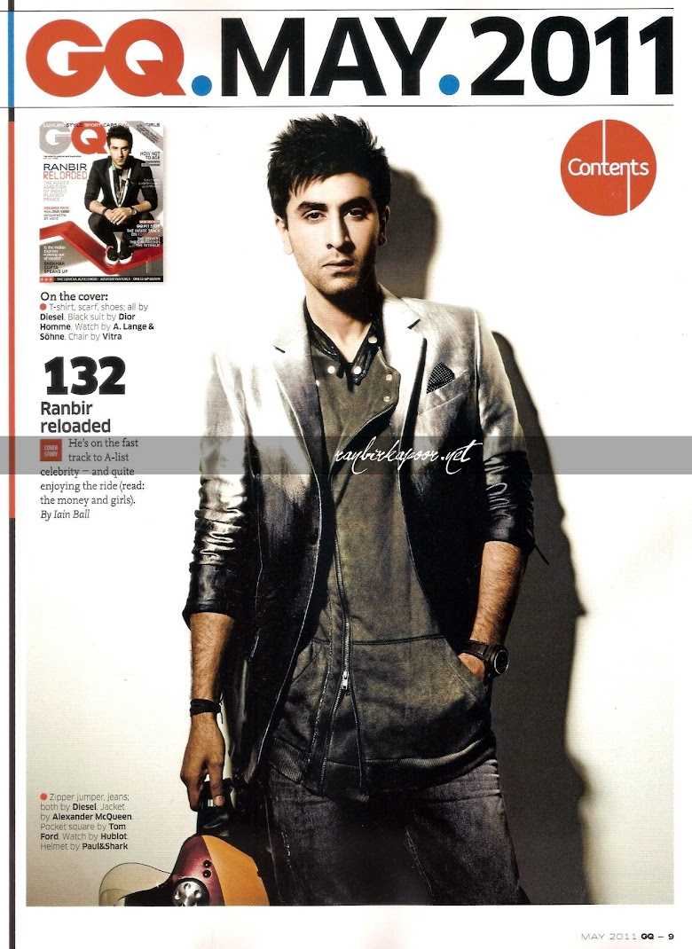  Ranbir Kapoor Latest Photoshoot For GQ May 2011