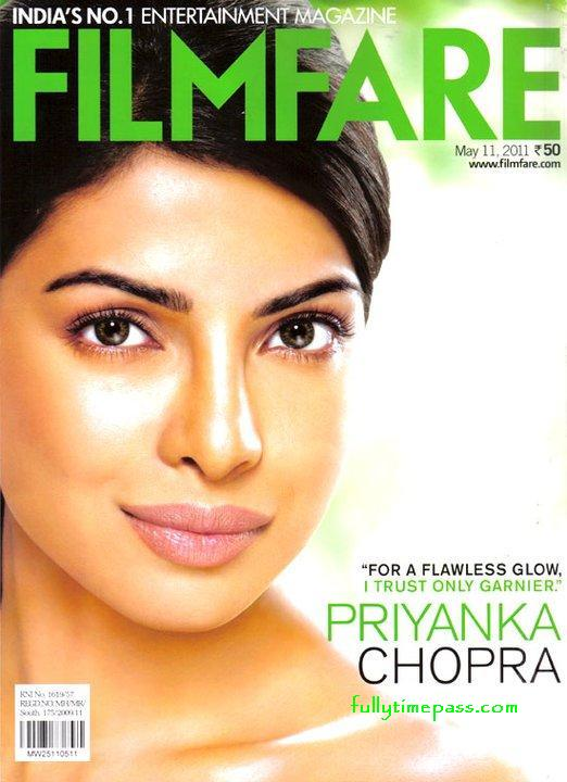 Priyanka Chopra on cover on Filmfare magazine May 2011