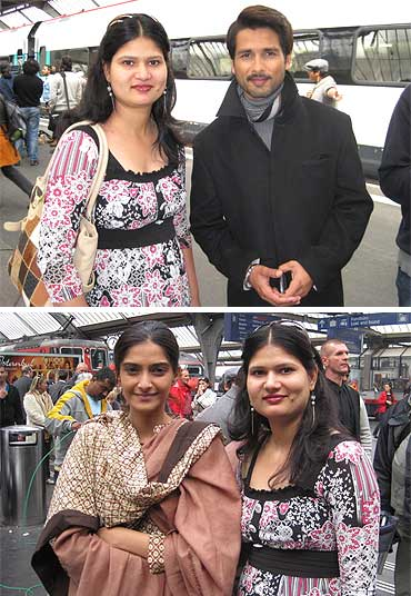 Sonam Kapoor -  Spotted: Shahid, Sonam in Switzerland 