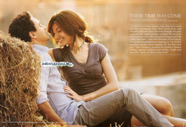 Imran Khan Anushka Sharma Photoshoot Scans From Hi Blitz Magazine