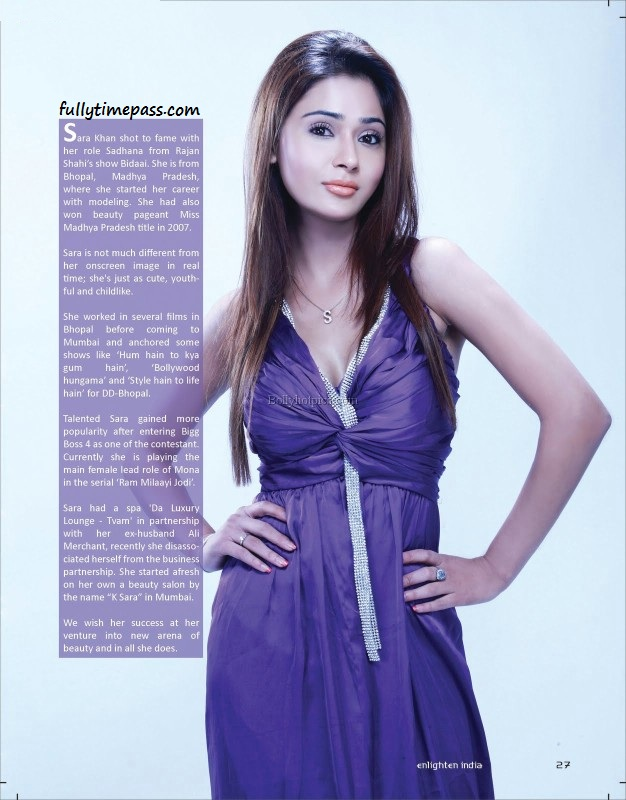 , Sara Khan Hot Magazine Scans