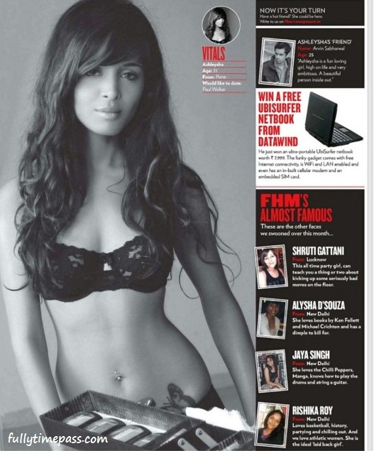 Ashleysha - Upcoming Model Ashleysha Hot Scans from FHM