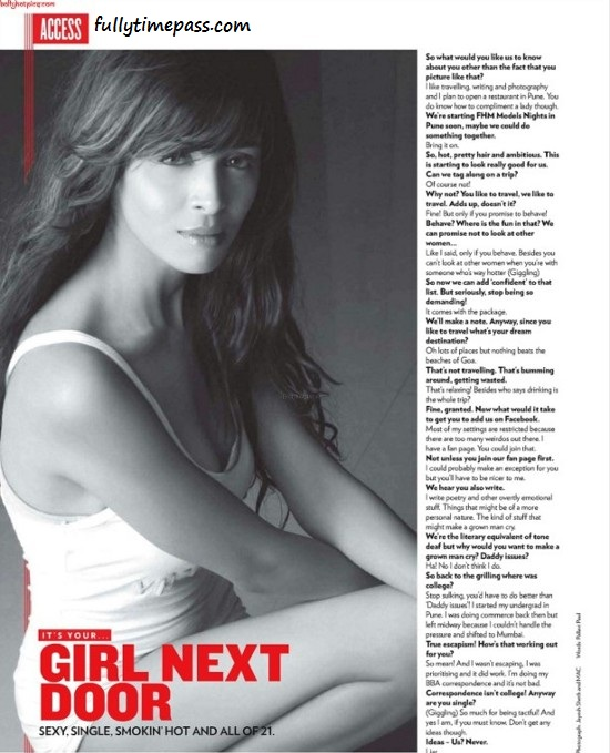 , Upcoming Model Ashleysha Hot Scans from FHM