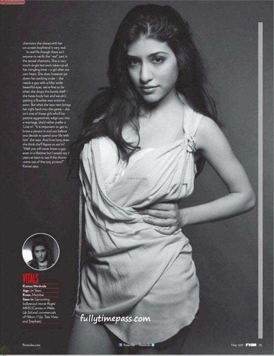 , Kainaz Motivala Hot Pics - Ragini MMS Actress FHM Magazine Scans