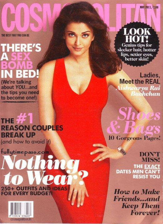 Aishwarya Rai  - Aishwarya Rai on the cover of Cosmopolitan India May 2011