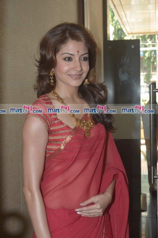 Anushka Sharma in Red hot Backless Saree