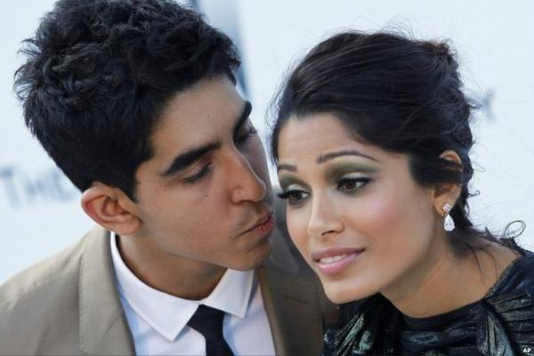 Freida Pinto  -  Freida Pinto and Dev Patel At Cannes