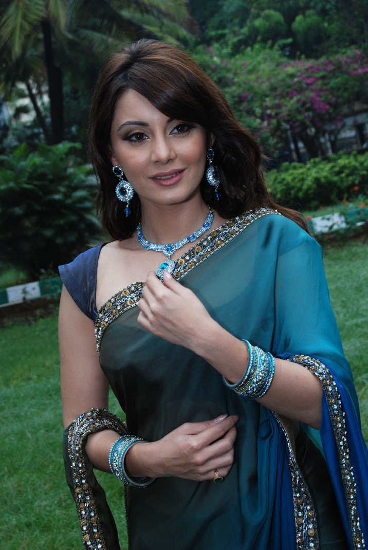 Minisha Lamba Hot Photoshoot in Green Saree