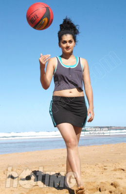 Tapsee Beach Stills - Tapsee Mr Perfect Movie Beach Stills