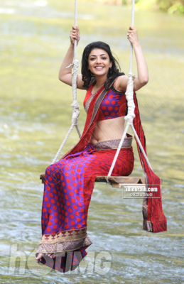 Kajal Agarwal in Saree - Hot Stills of Kajal Agarwal in Saree from Mr Perfect Movie