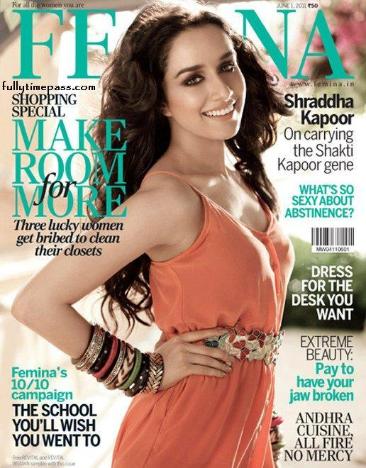 Shraddha Kapoor - Shraddha Kapoor on the cover of Femina magazine June 2011