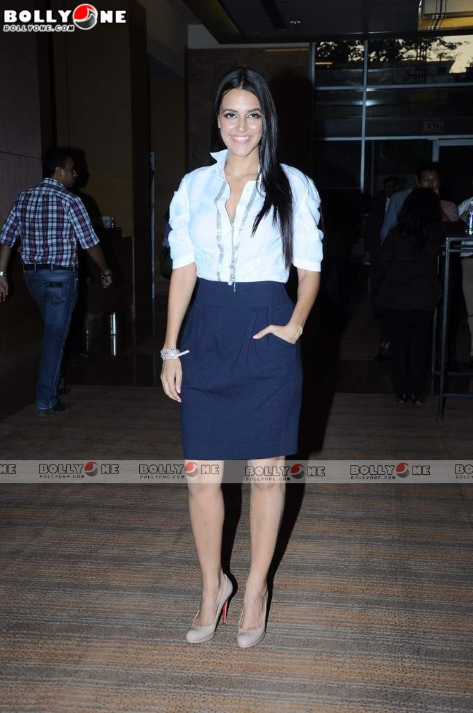 Hot Neha Dhupia at IIFA press meet