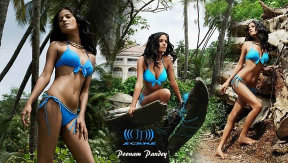 Poonam Pandey Hot Bikini Wallpaper