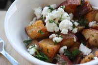 Roasted Potatoes with Goat Cheese