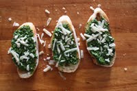 Winter Pesto Crostinis