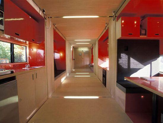 Bagian Dalam Atau Interior Rumah Dari 1 Kontainer Ukuran 40 Kaki