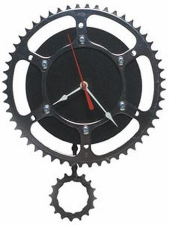 Jam Bandul Dari Roda Rantai Sepeda Bekas