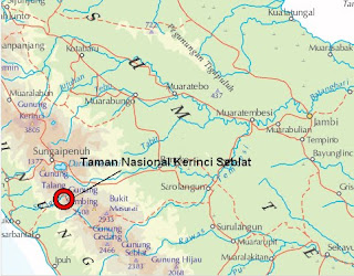 Peta Taman Nasional Gunung Kerinci
